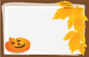 Brown Jack-o-Lanterns Recipe Card