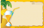 Palm Tree Drink Orange recipe card