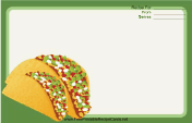 Tacos Green recipe card