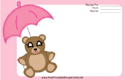Teddy Bear Pink Umbrella